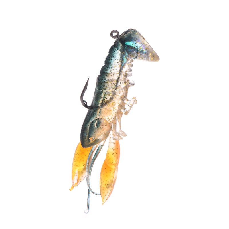 Fishing Bait Artificial Lobster Soft Lure Hook Shrimp Claw Crabs Swimbait 14g8cm