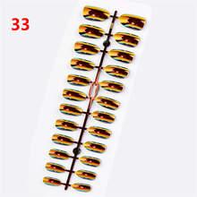 Короткие накладные ногти на шпильках, 24 шт., полное покрытие, накладные ногти на шпильках, АБС, искусственные ногти, украшения для дизайна но...(Китай)