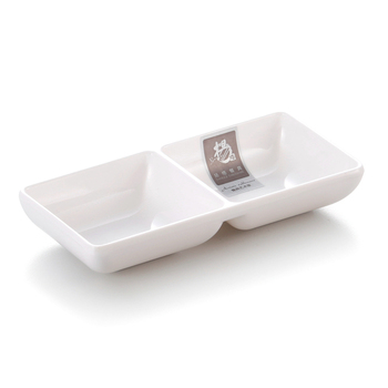 White 2 soy sauce dish ,soy sauce dish japanese style