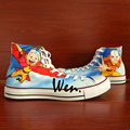 Wen Anime Hand Painted Shoes Design Custom Avatar The Last Airbender High Top Man Woman s