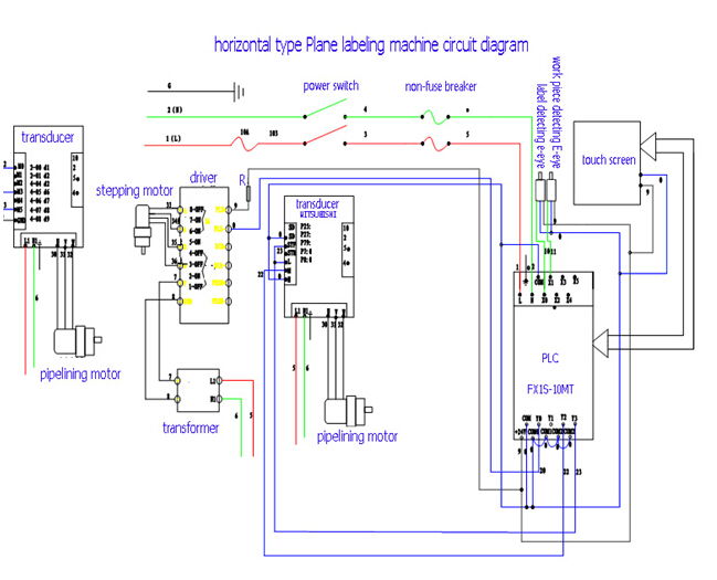 circuit diagram for economic fixed position round bottle labeling machine :