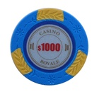 Casino royale 14g clay poker chips with customized values