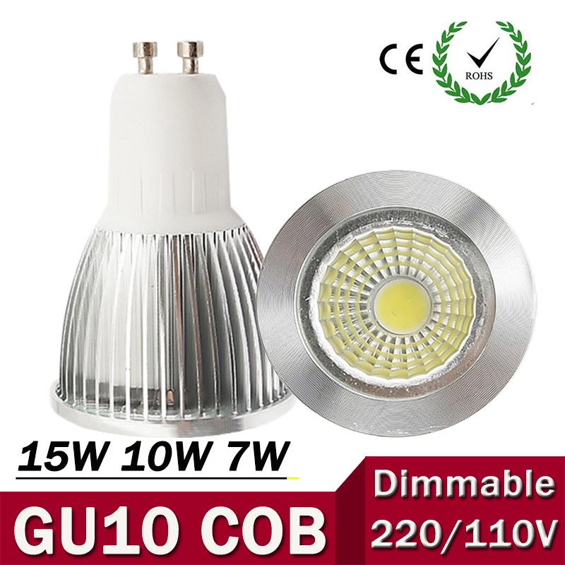 super bright gu10 bulb light dimmable led ceiling light warm white 85 265v 7w 10w 15w gu10 cob. Black Bedroom Furniture Sets. Home Design Ideas