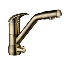 Smesiteli, смесители для кухни, бронзовый керамический фильтр, кран для горячей и холодной воды, смесители для кухни, кран для раковины, смесител...(Китай)