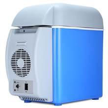 Портативный мини-холодильник с морозильной камерой, 12 В, 7,5 л, многофункциональный, двойного назначения, подогреватель, термоэлектрический ...(Китай)