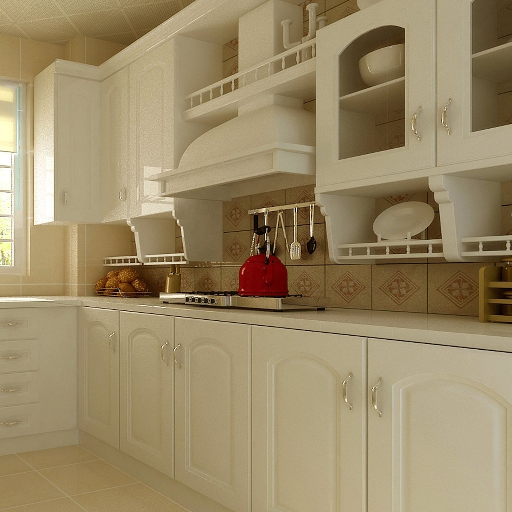 Cucine Moderne Glass Door For Kitchen Cabinet Designs From China ...