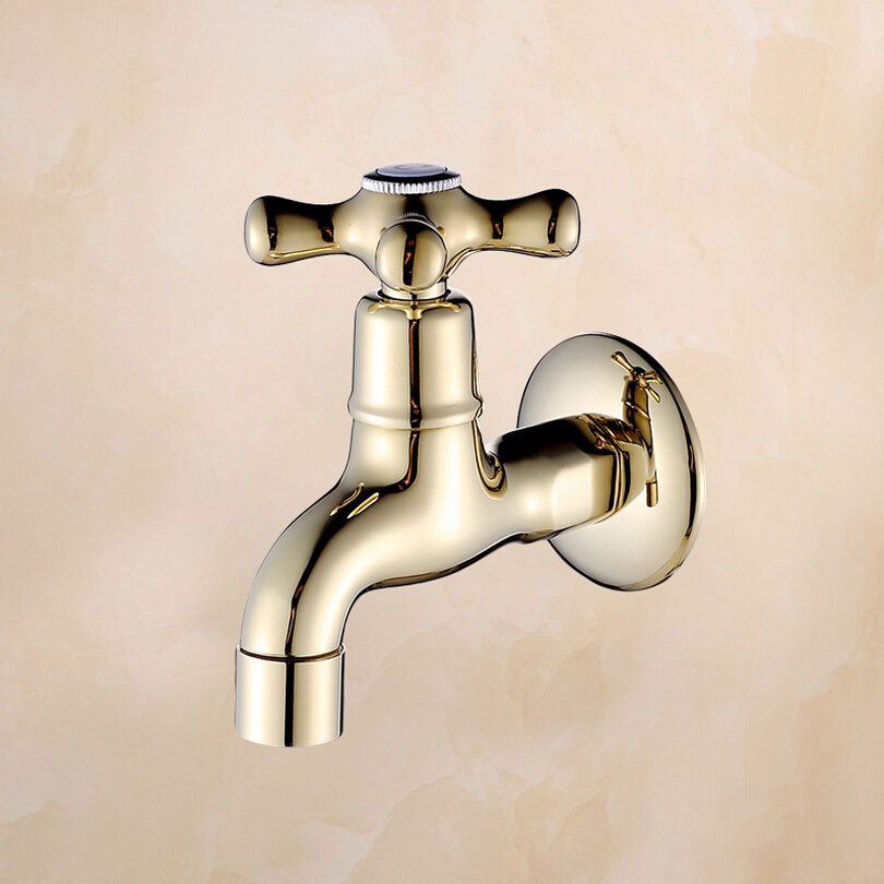 Decorative-outdoor-faucets-Wall-mounted-brass-garden