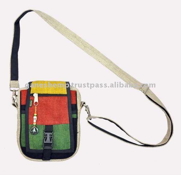 Rasta Hemp Passport Style Bags