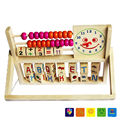 Hot Sale Montessori Material Wooden Math Toy Early Educational Learning Clock Letter Children Toys WD41 24