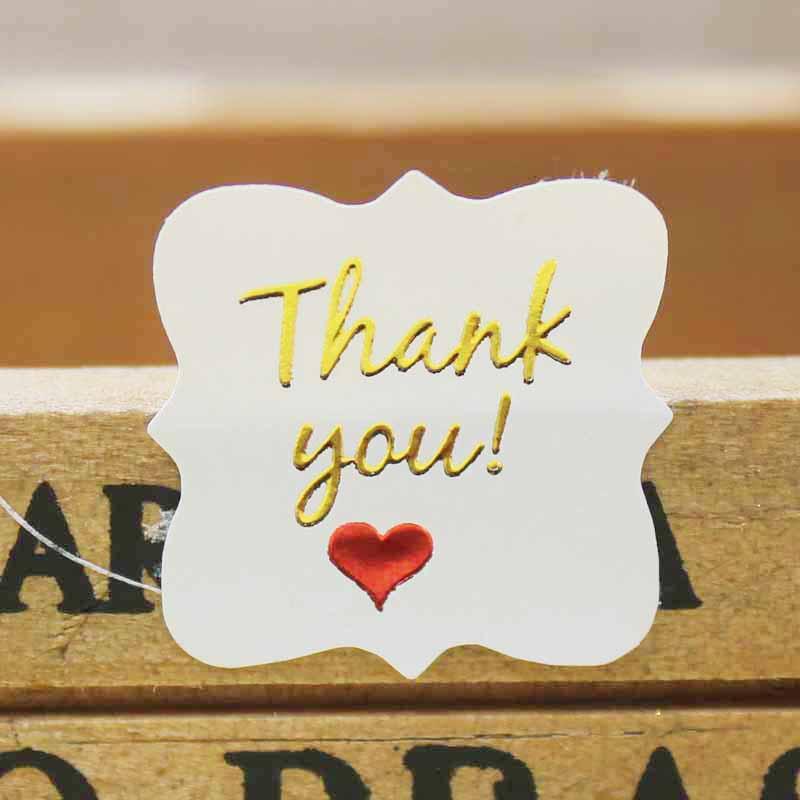 200 шт. наклейки с надписью «Happy birthday», ручная работа, золотые наклейки, ПВХ, прозрачные, спасибо, подарок/Драгоценности/печенье, этикетка(Китай)