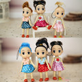 2Pcs Set Cartoon Interactive Toy Dress Dream Girl Confused Doll Fashion Doll Phone Pendant Christmas Wedding
