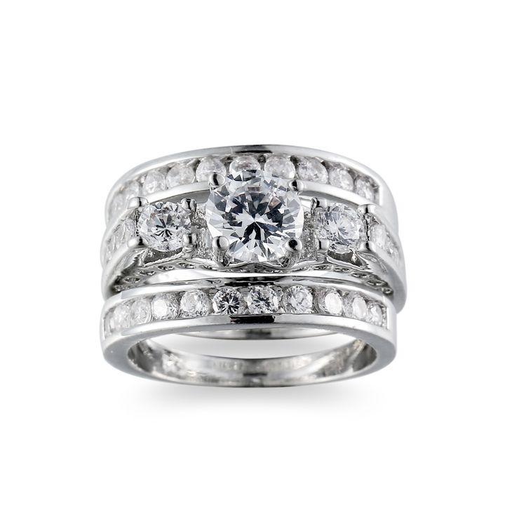 2017 Murah Fashion Wanita Mewah Perak Lempeng Putaran Zircon Kristal Wedding Ring Set Buy Kristal Wedding Ring Set Mewah Pernikahan Cincin Set Putih Emas Wedding Ring Set Product On Alibaba Com