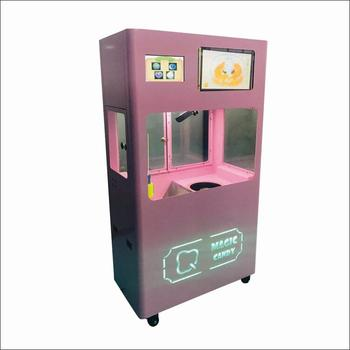 Advanced Coin operated Flower cotton candy floss making machine / Fairy floss maker