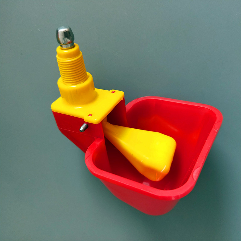 Красный Птицы поилка для чашки, Lubing курица птица попугай воды соска PH-101