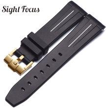 Изогнутый 20 мм 21 ремешок для часов, мм для часов с черной водой, резиновый ремешок для часов, ремешок для часов GMT, мужские браслеты Relogio Masculino(Китай)