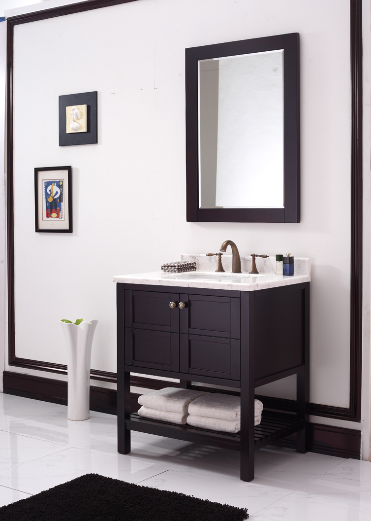 american style solid wood bathroom vanity-in Bathroom ...
