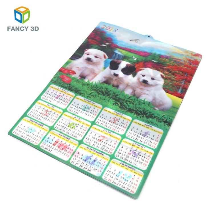 Zebulun, оптовая продажа, наклейки на заказ, пластиковые 3d-календари для печати на линзовидной основе