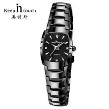 KEEP IN TOUCH квадратные женские часы, стразы, кварцевые часы, женские роскошные часы-браслет, женские часы, reloj mujer montre femme(China)