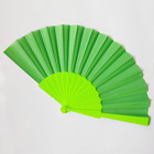 [I AM YOUR FANS] Sufficient stock! Vintage Plastic Folding Hand Held plain Fan Chinese Dance Party fan Green