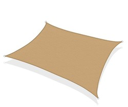 160gsm rectangle  high quality uv protection sun shade sail 2M*2M