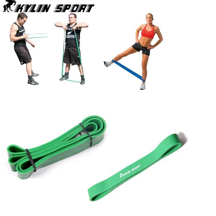 Rubber Exercise Tubing Bands: -free-shipping-2-elastic-tension-green-exercise-crossfit