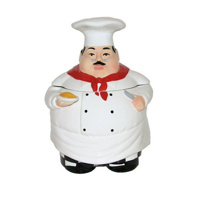 Likable Fat Italian Chef Ceramic Cookie Jar Buy Product On Alibaba Com