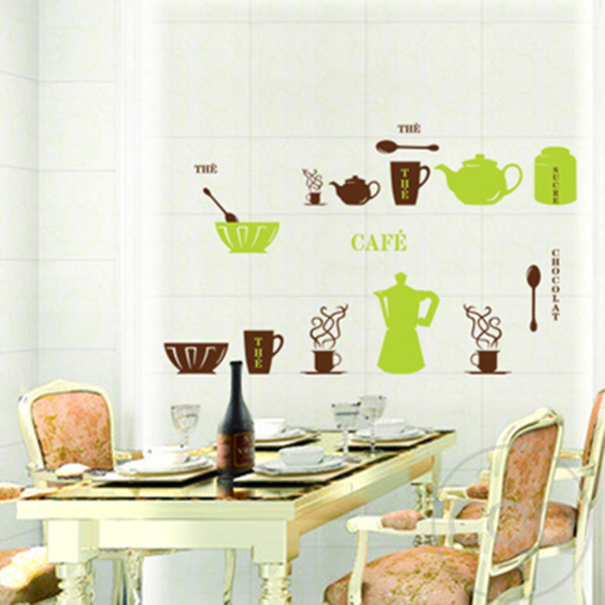meubles pour cuisine cafeti re d coration wall sticker home decor bricolage adh sifs art mural. Black Bedroom Furniture Sets. Home Design Ideas