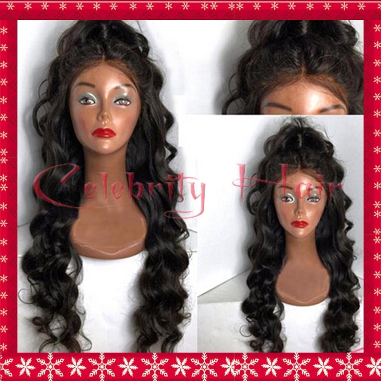 Deep Wavy Hair Lace Front Wig Long Baby Hair Harajuku Wig