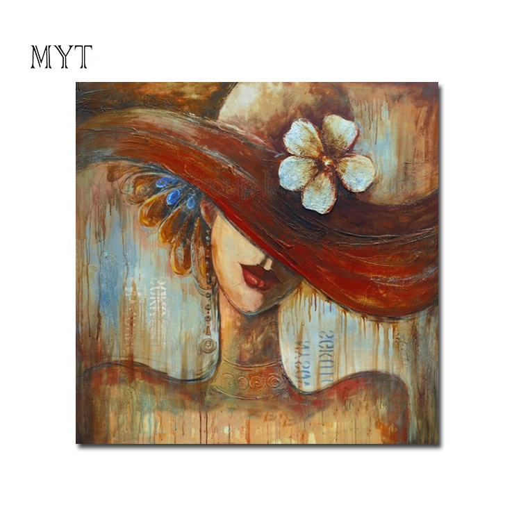 MYT India Sexy Girls Photos Baby Cartoon Pictures Oil Painting For Kids Wall Art