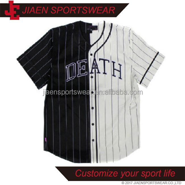 Fashion Blank Classic Design Plain Black And White Cheap Authentic Baseball Jerseys Button Down Baseball Shirts For Men - Buy Black And White Baseball ...