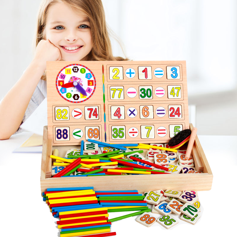 Baby Toys Counting Sticks Digital Operation Learning Box Math Toy Child Educational Wooden Toys Infant Birthday