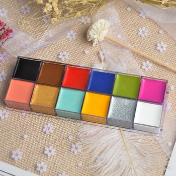 Hot Selling Body Art Painting Supplies Makeup Palette Halloween Face Paint Kit
