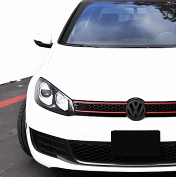 Devil Style Gloss Black+Red Front Grill + Rear Boot Trunk