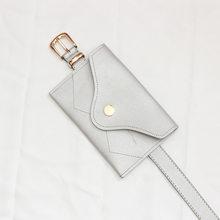 Женская поясная сумка из искусственной кожи, простая винтажная Регулируемая мини-сумка для телефона, сумка-конверт для ключей, 2019(Китай)