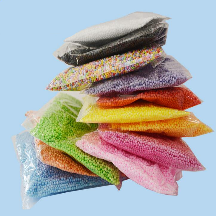 Самая продаваемая тонировка для стекла 9 г/пакет цветного полистирола пенополистирола пена бусины для изготовления слизи комплект