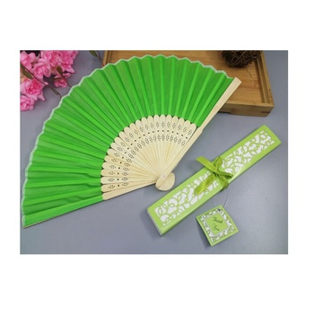 Pattern Folding fans Dance Wedding Party Lace fans Edging Plastic Ribbing Folding Hand Held Solid Color Fan
