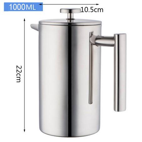 Френч-пресс для приготовления кофе с Fliter-18/10 термос из нержавеющей стали с двойными стенками для кофе(Китай)