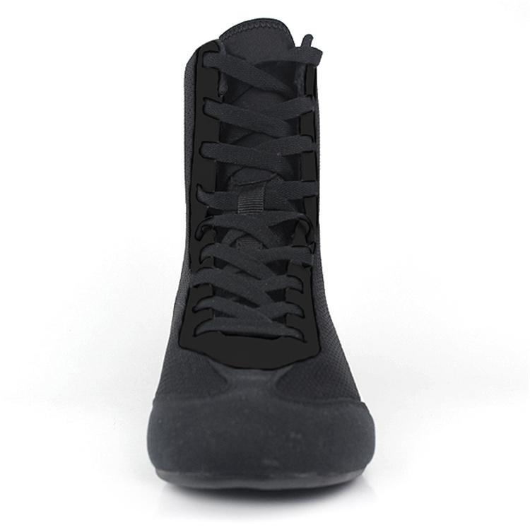 Черные высокие мужские ботинки со шнуровкой для тренировки боевых искусств в помещении