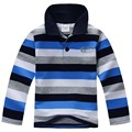 Lenrick Top quality kids children boy t shirt kid boys clothing long sleeve cotton striped children