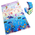 6pcs set Baby Puzzle Play Mat Kids Gift Blue Ocean Rug Crawling Pad For Children Carpet
