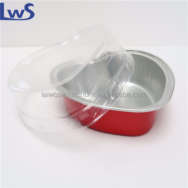 Heart Shaped Foil Heart Pan With Plastic Lid Buy Heart Shaped Foil Heart Pan With Plastic Lid Heart Shaped Pizza Pan Aluminum Foil Pans With Lids Product On Alibaba Com