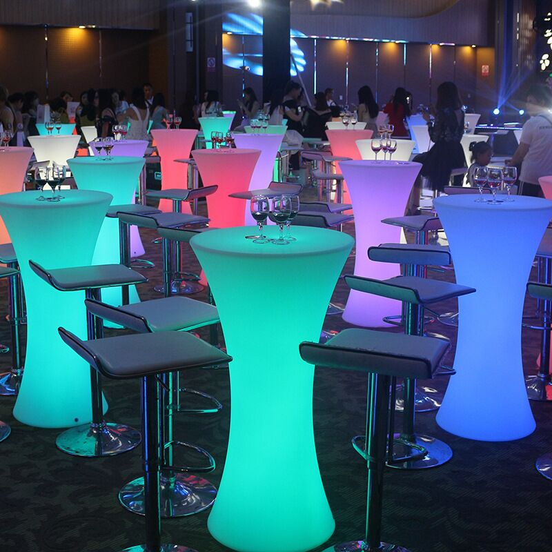 Bar furniture led lighted dining table party disco led pool table