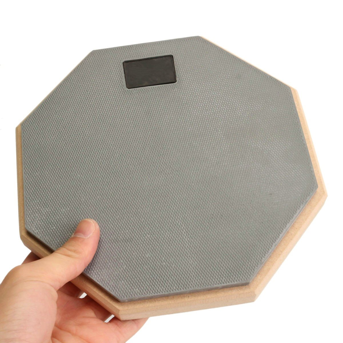 8 inch rubber wooden dumb drum silent practice drumpad for beginner drumming quiet training drum. Black Bedroom Furniture Sets. Home Design Ideas