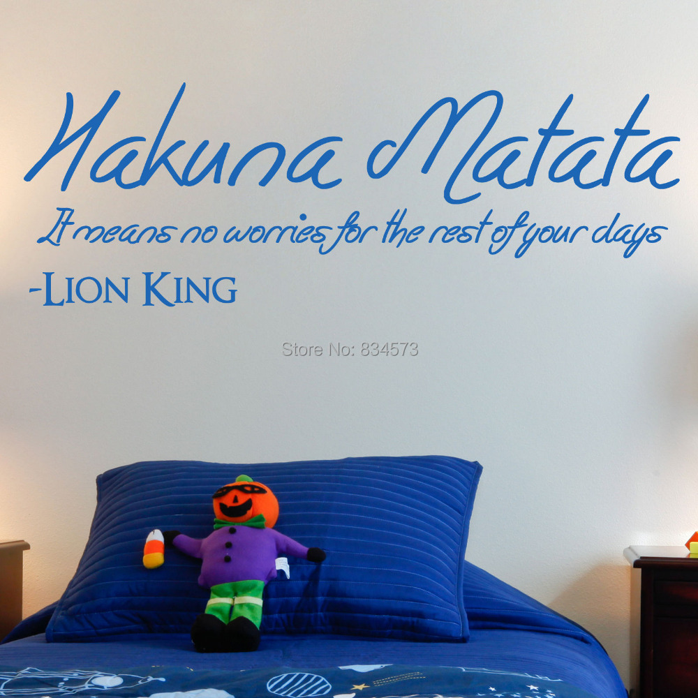 Aliexpress.com : Buy Hot THE LION KING Hakuna Matata Wall ...