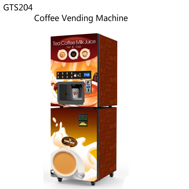 Холодный и горячий эспрессо, торговый автомат, кофейный сок, торговый автомат