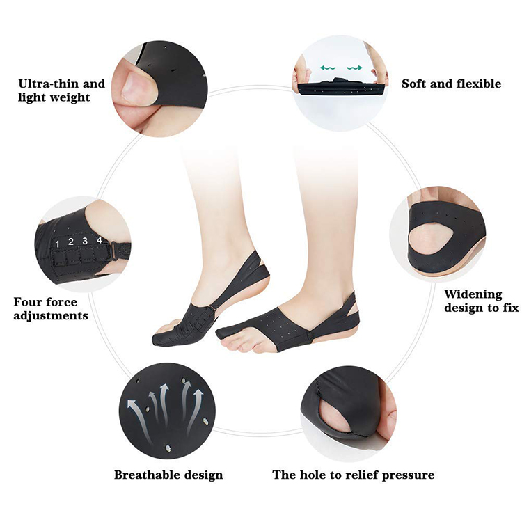 Регулируемый эластичный корректор большого пальца ноги выпрямитель для облегчения боли при вальгусной деформации