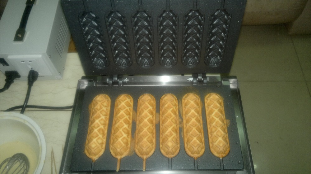 electric 6 pcs french sausage machine hot dog bread waffle iron hot dog. Black Bedroom Furniture Sets. Home Design Ideas