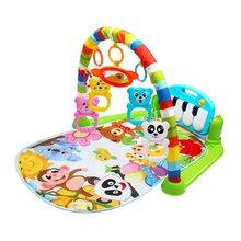 2 в 1 детский коврик для игры на фортепиано, стойка для новорожденного, музыкальная стойка для фитнеса, погремушка, игрушечный игровой коврик...(Китай)