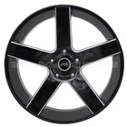 China custom 22 24 inch alloy wheels 5/6 hole PCD 100~139.7 black and chrome alloy rims