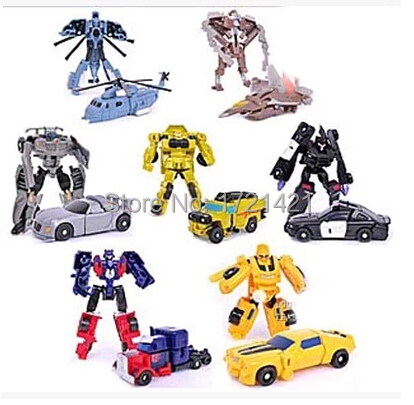 Free Shipping Hot Sale 7pcs lot Robot Transformation Toys Kids Toys Transformation Autobots Optimus Prime Bumblebee